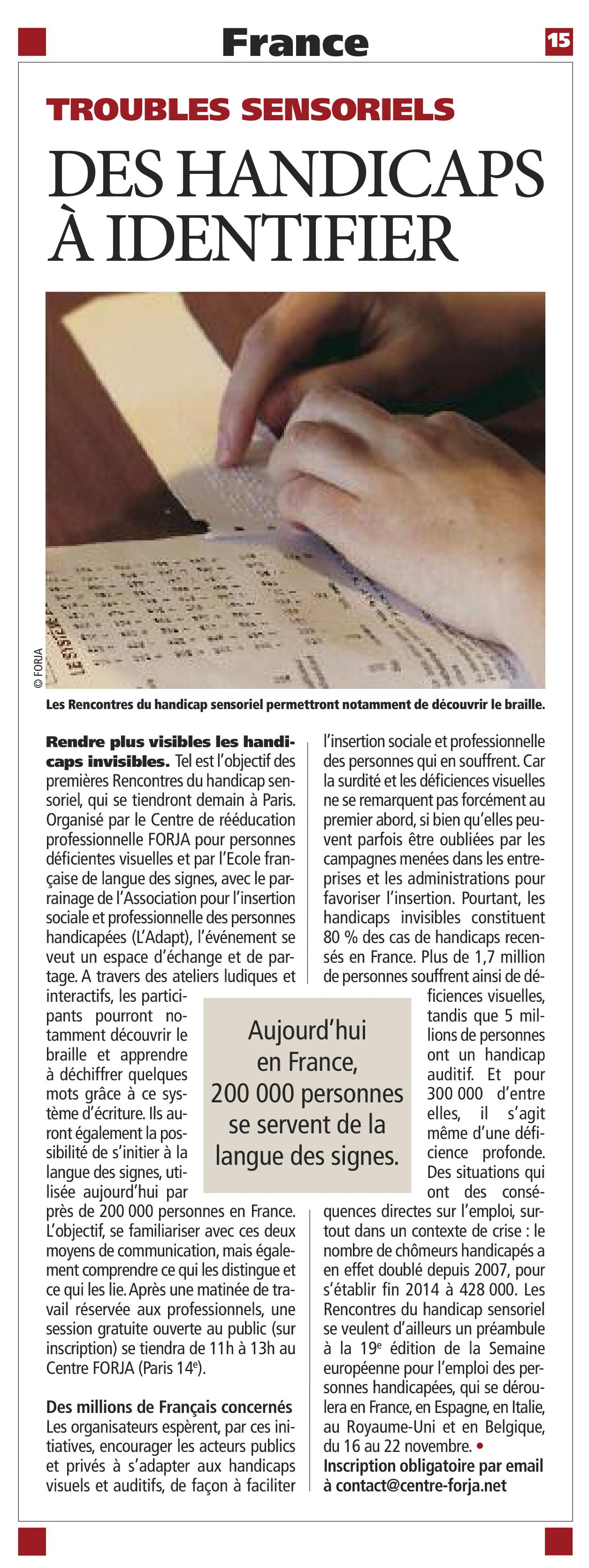 article FORJA Direct Matin