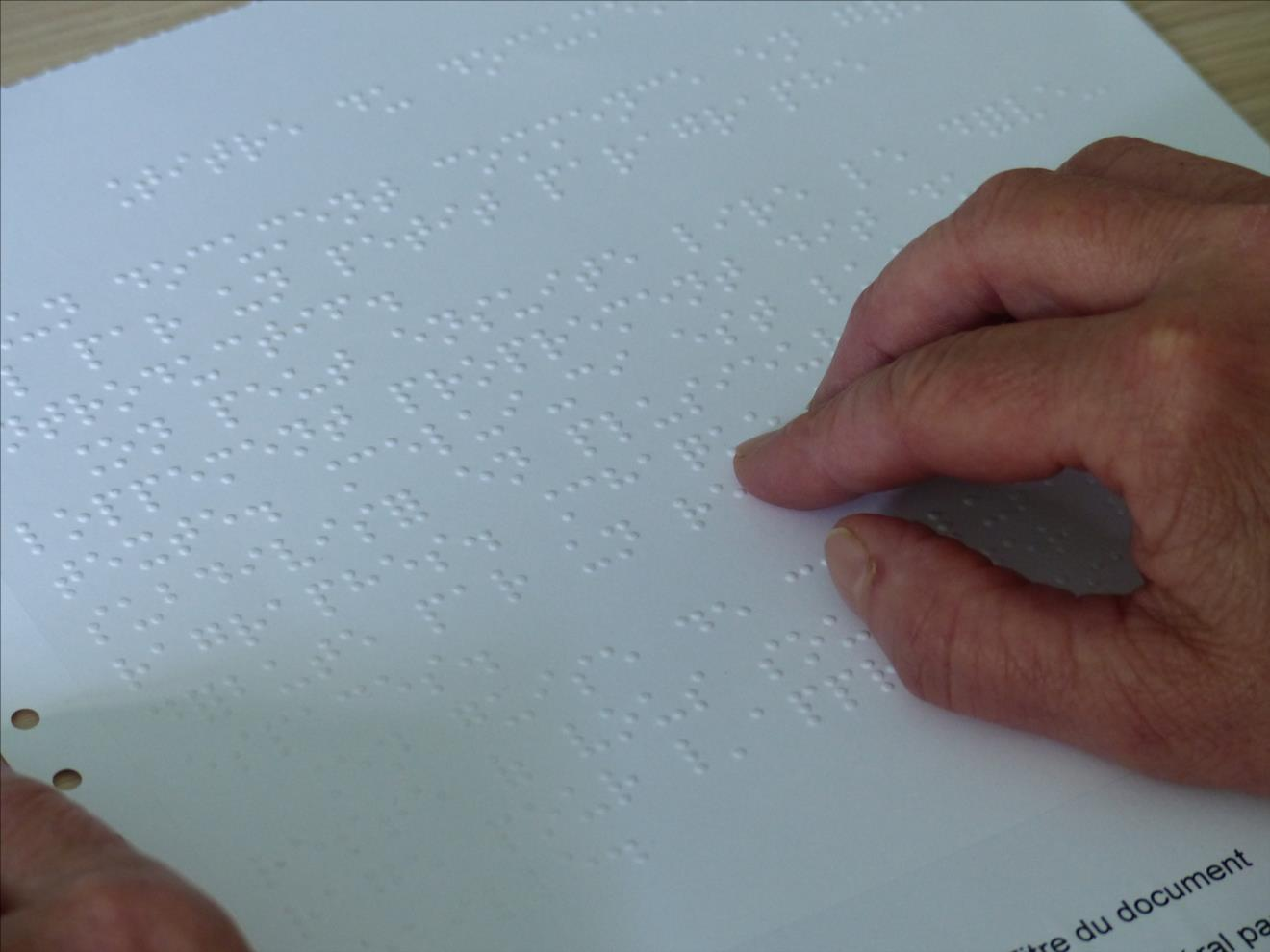 Photo braille